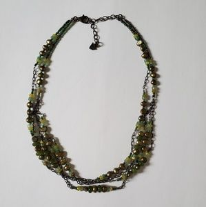 Silpada green pearl 3 string necklace